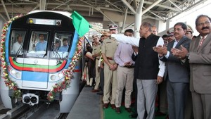 Governor esl narasimhan inaugurated ameerpet hitech city metro service