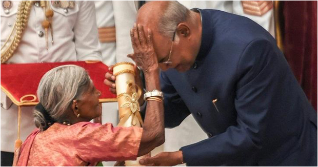 President Kovind Gives Away Padma Awards Goes Back With Blessings .
