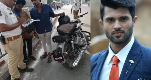 Sensational Hero Vijay Devarakonda apologies to Hyderabad Traffic police.