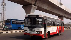 Robbers rob rtc city bus in hyderabad