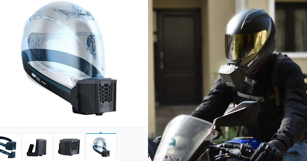 Blue snap company introduced air conditioned helmet for summer.