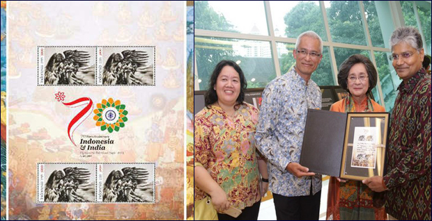 Indonesia releases Ramayana stamp for 1st time celebrating centuries old cultural bonds.