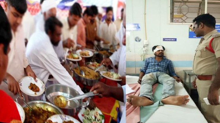 fighting for biryani at marriage function At andhra pradesh tanuku.. 12 12 people injured