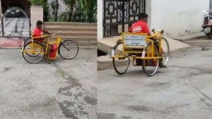 Handicapped Food delivery In zomato.. Viral Video About Him.