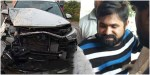 Famous telugu comedian chalaki chanti met with road accident.
