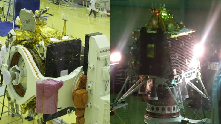 ISRO releases first pictures of Chandrayaan-2 at Bengaluru Satellite Integration and Testing facility.