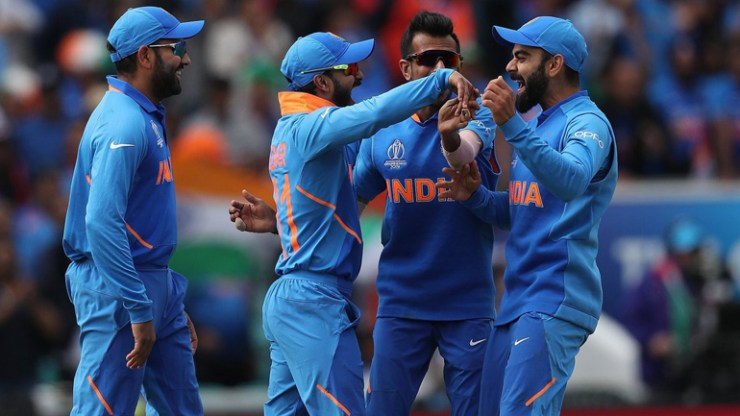 Team india defeat australia in world cup match.
