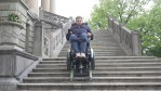 special Wheelchair for disabled People.. using on steps also.