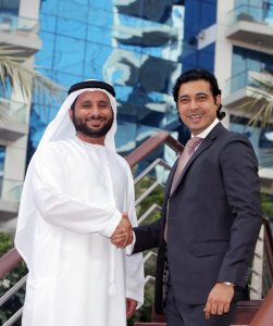 Abdulla Bin Sulayem, CEO, Seven Tides International and Saurabh Rai, Executive Vice President of Preferred Hotels & Resorts.