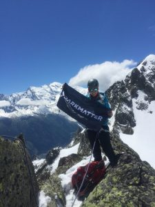 Danah Al Ali during one of her recent mountain climbing expeditions. (PRNewsFoto/DarkMatter)