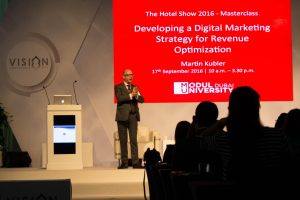 MODUL University Dubai conducting a Masterclass at The Hotel Show 2016