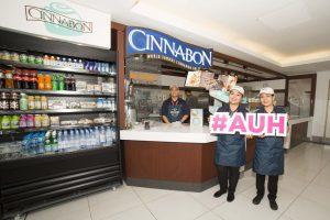 Staff at AUH Cinnabon