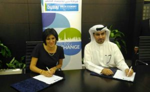 Chiara Appendino, Mayor of Turin and Mr Fahad Al Gergawi, Secretary General of Dubai GEP at the MoU signing