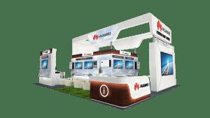 Huawei's Booth at Dubai Solar Show