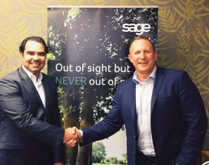 Mr. Abdulmohsen Albadr, the company's founder & CEO Mr. Keith Fenner, Vice President Sage Enterprise Africa and Vice President Sage Middle East.