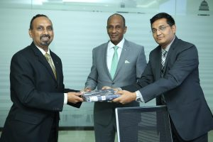 Xavier Arputharaj, Chief Operating Officer of Orient Group, Omer Elamin, President – Orient Group and Sameer Yogishwar, Chief Executive Officer of HDFC International