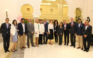 The team of The Ajman Palace Hotel and Coral Beach Resort Sharjah kick off the International Breast Cancer Awareness Month with Pink Caravan