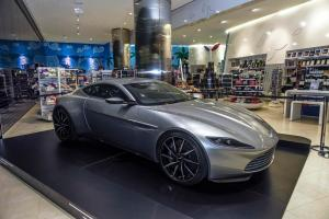 Celebrating 'Designing 007: Fifty Years of Bond Style', a sleek Aston Martin from the James Bond franchise is now parked at The Dubai Mall – At The Top, Burj Khalifa entrance