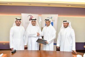 During the signing between Eng. Mahmood Al Bastaki, CEO of Dubai Trade and Arif Obaid Al Dehail, CEO of Trakhees.