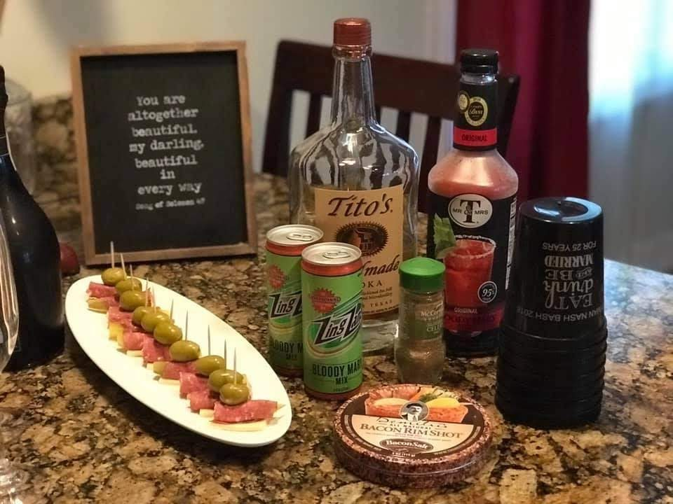 Beef roll-ups for a Bloody Mary bar