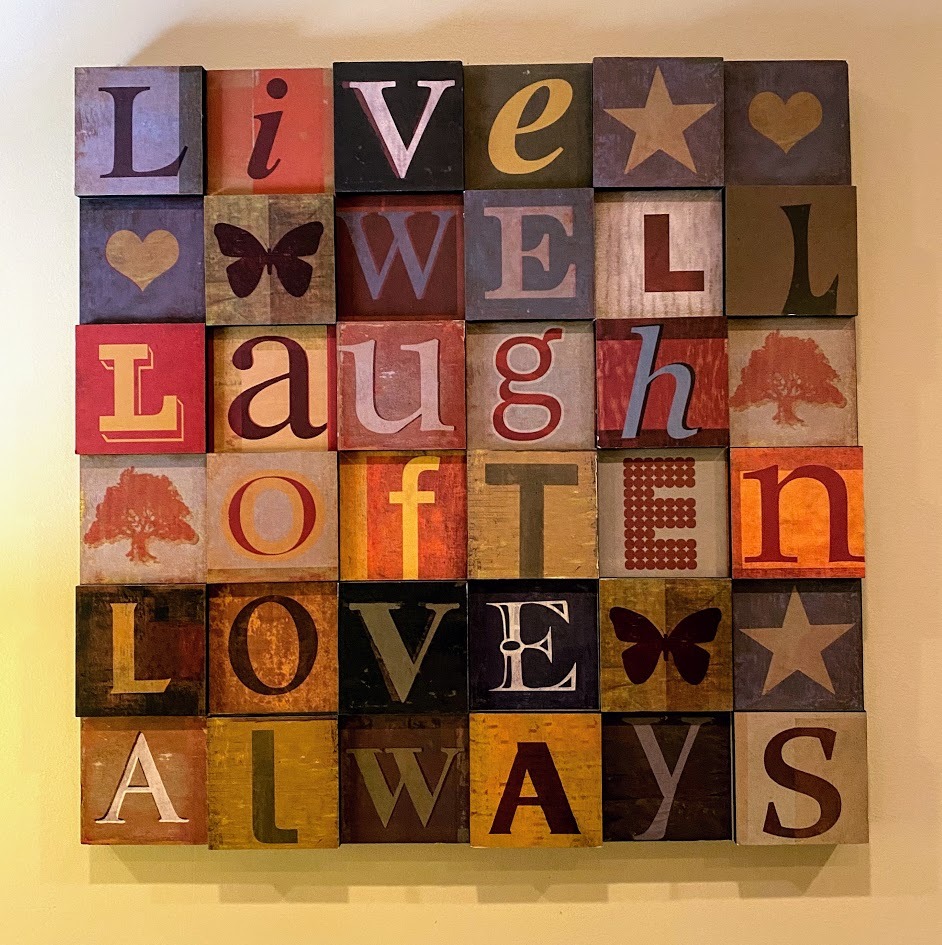 Live, Laugh, Love wall hanging