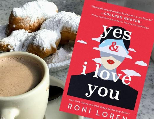 beignets and book Yes & I love You by Roni Loren