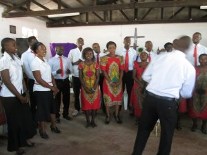 2015 tanzania mission trip; singing
