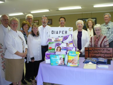 Chapel of the Good Shepherd- collecting diapers