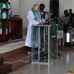 Pastor Tews preaching