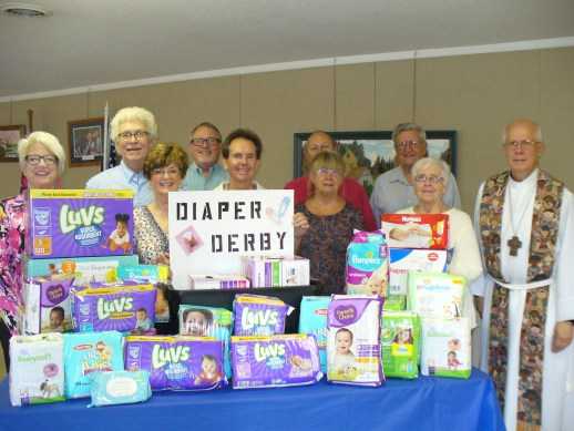 2017 diaper derby, Chapel of the Good Shepherd Lutheran Church, Sharps Chapel, TN