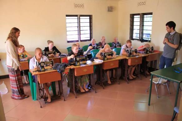 albino sewing class