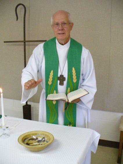 new baptismal bowl was dedicated Sharps Chapel