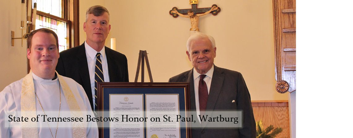 State of Tennessee Bestows Honor on St. Paul in Wartburg
