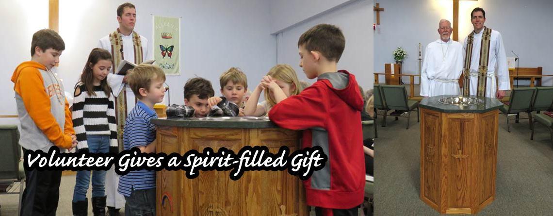Volunteer Gives Praise Lutheran a Spirit-filled Gift