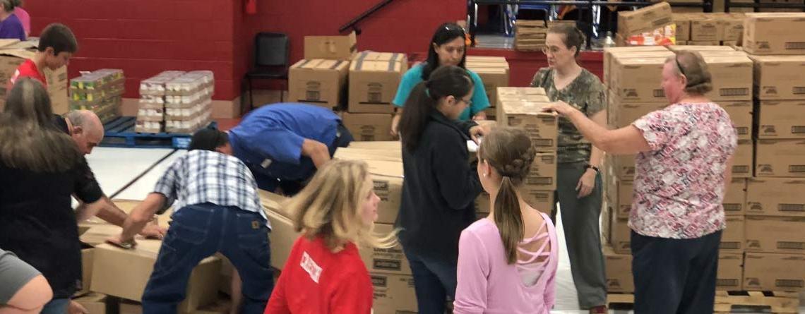 Food Distribution Held In Sharps Chapel