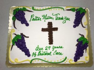 Pastor Miller's cake-29 years of service