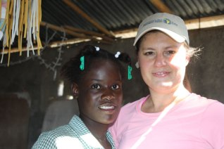 Holly Bray on mission trip with Trinity Hope