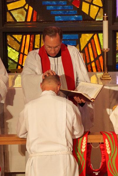 Pastor John Mathis at his ordination