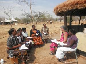 Amy Rast teaching deconess classes in Tanzaiia
