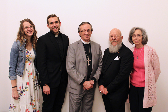 L-R: Rachel and Joshua Ralston, Rev. Roger Paavola, Neely and Martha Owen