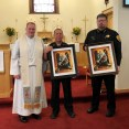 Rev. David Graves presented Sheriff Wayne Potter and Wartburg Police Chief Teddy Baleswere each a framed print of St. Michael embracing a deputy by LCMS artist Edward Riojas of Michigan to commemorate the day