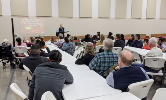 Two churches opening their doors for cross-cultural outreach was well attended.
