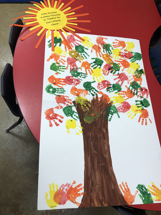 Avilla Academy expresses thankful artwork our faithful supporters
