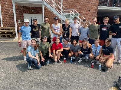 ROTC at Vanderbilt give Waverly Flood Aid Clean up