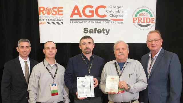 MVCC Wins First Place in the AGC ROSE (Recognition of Safety Excellence) Program