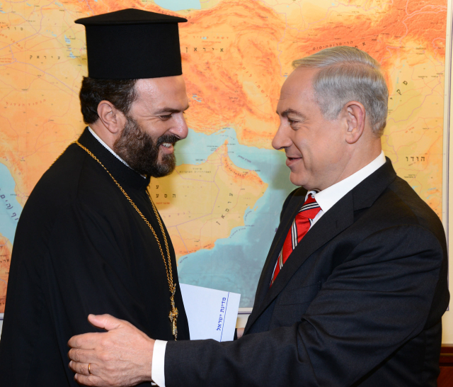 NETANYAHU MEETS WITH FATHER GABRIEL NADAF