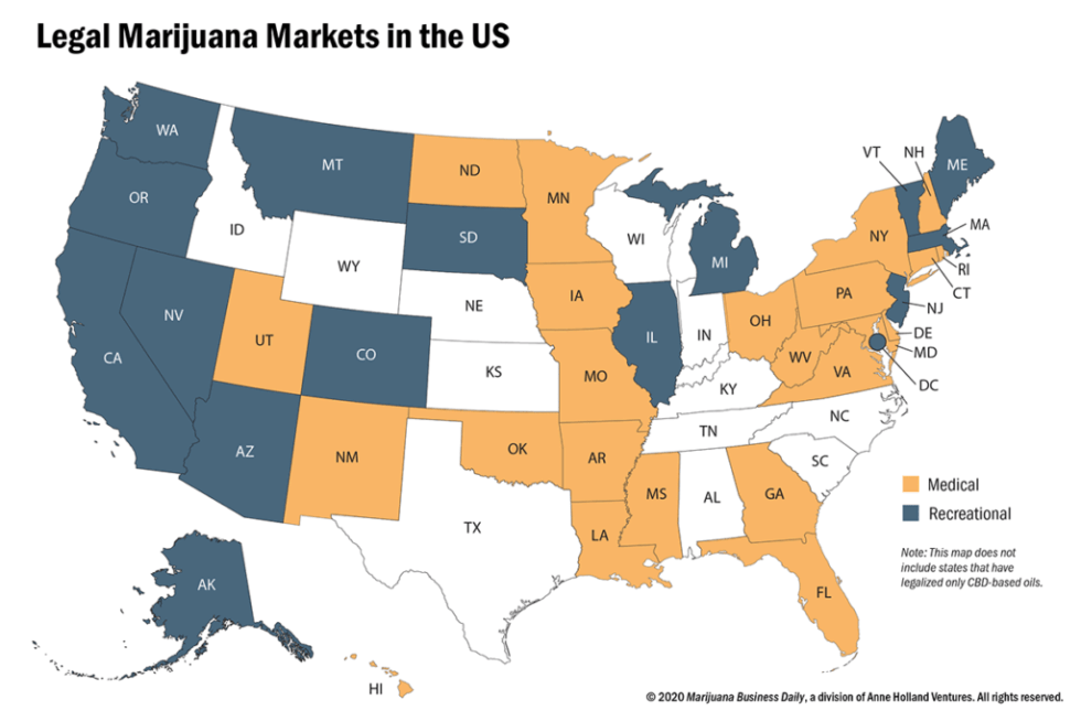 legal marijuana markets in the us