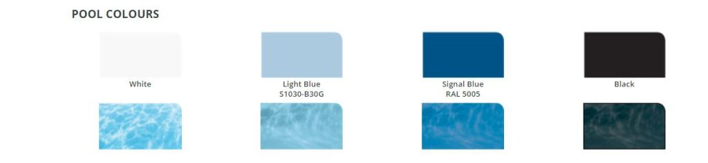 Chlorinated Rubber Swimming Pool Paint Colour Swatch