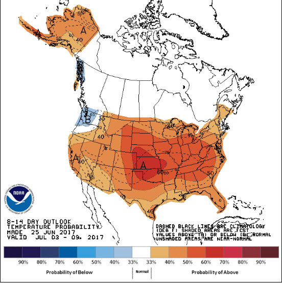 8 to 14 Day Temp Outlook
