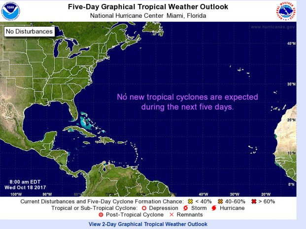 5 Day Tropical Outlook